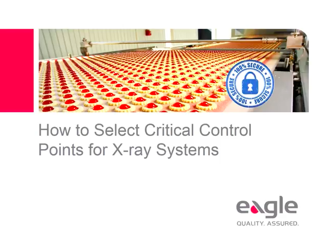 How to Select Critical Control Points for X-Ray Systems