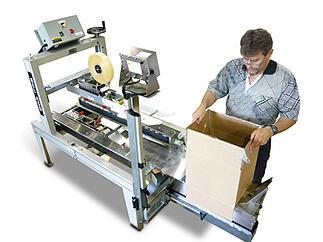 Semi Automatic Poly Bag Inserter Case Former BEL450