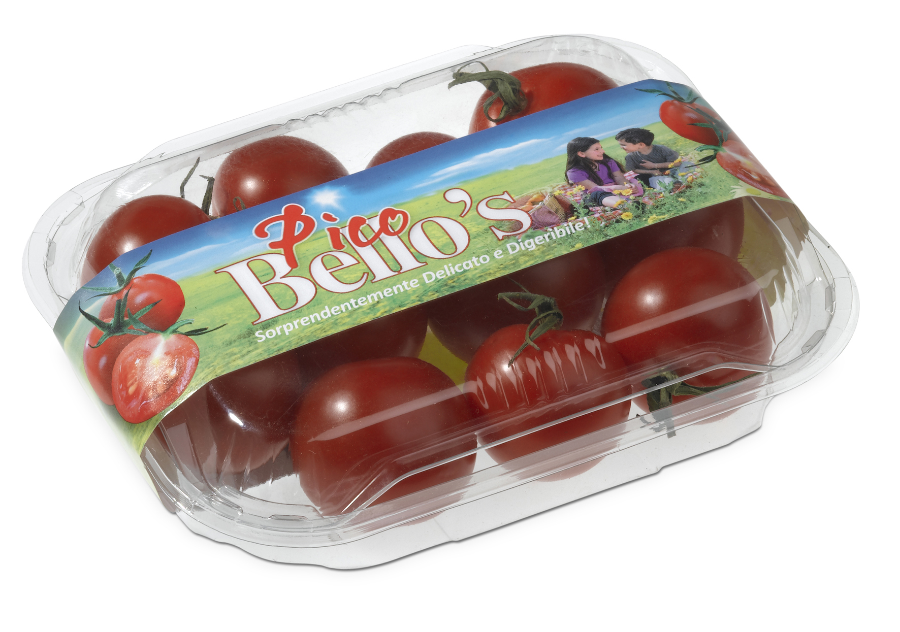Tomatoes with a band from Bandall